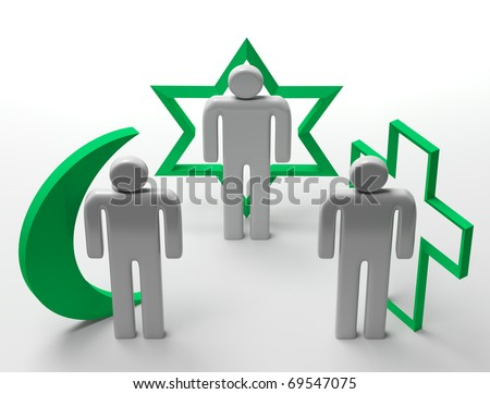 Three dimensional Shape The main religious symbols