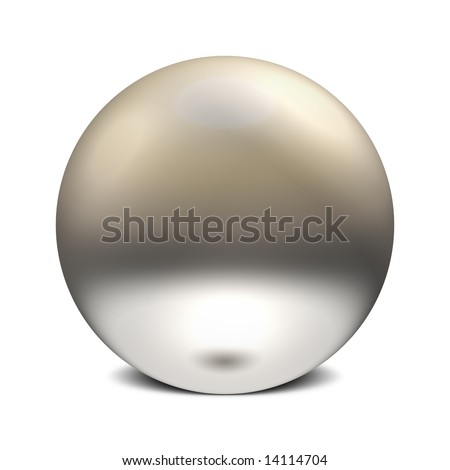 Three Dimensional Sphere of Reflective Surface With 3 Points of Light - stock photo