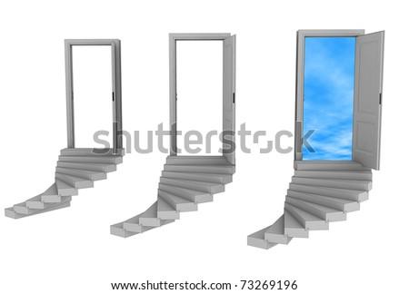 three doors and choice one
