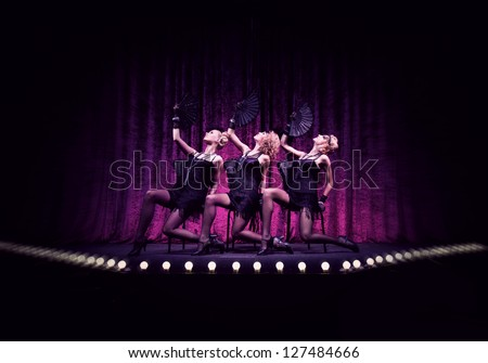 Three fabulous girls on the stage.