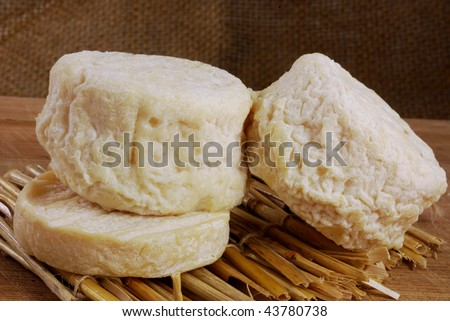 three french goats cheeses