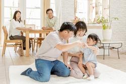 Three generation family happy life