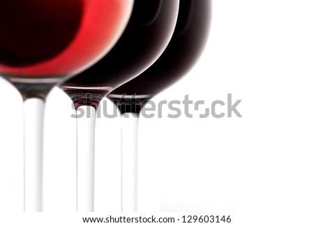 three glasses of wine