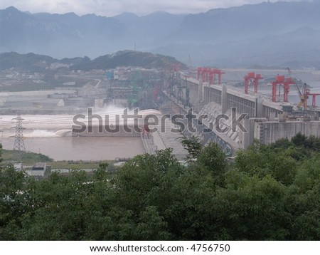 Three Gorges Dam, China, on the Yangtze River