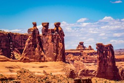 Three Gossips and Sheep Rock in Arches National Park, Utah
