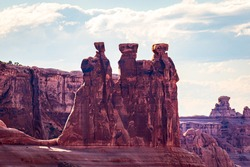 Three Gossips in Arches National Park, Utah