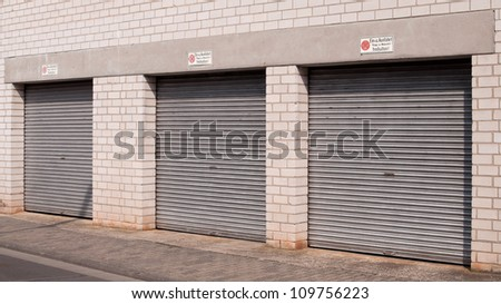 Three heavy-duty garage doors