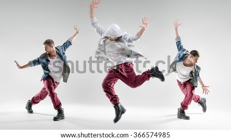 Three hip-hop dancers