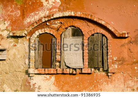 three historical manor ruins...