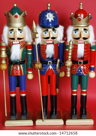 three holiday nutcrackers