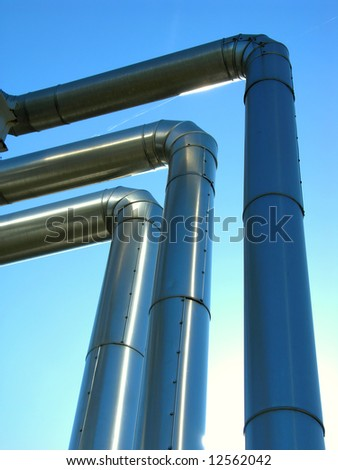 three isolated pipelines from metal