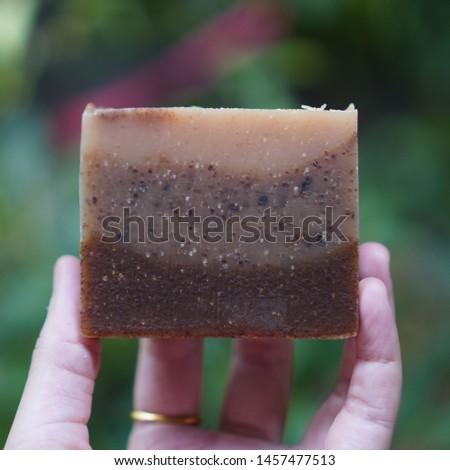 Three Layer Soap. Handmade soap. Cold process soap.