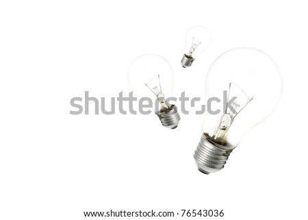 Three light bulb isolated on white - stock photo