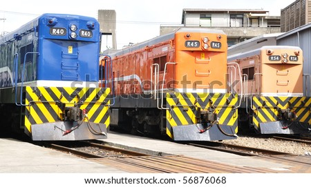 three locomotives