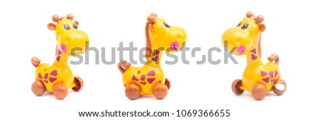 three mechanical giraffe toy....