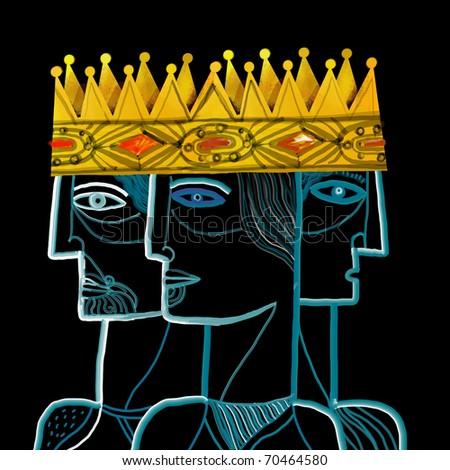 Three men under the same crown