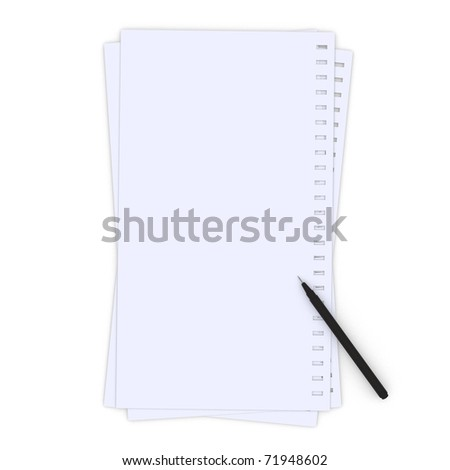 Three note of memo papers isolated on white.