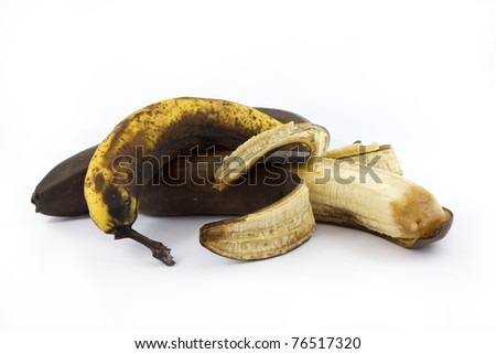Three old bananas