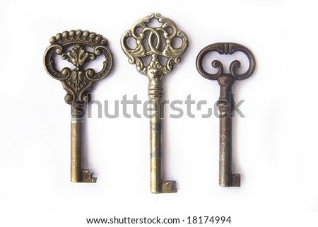 Three old keys