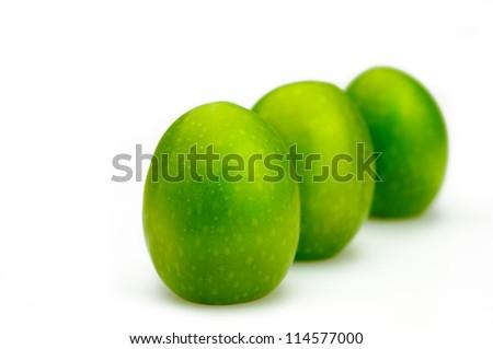 Three olive fruits
