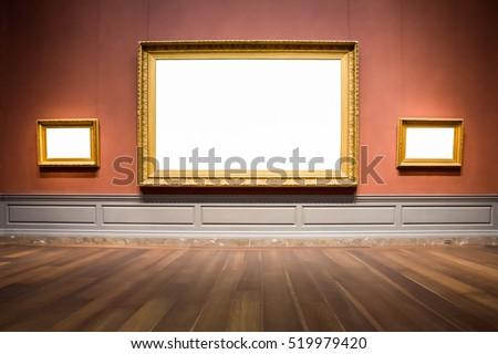 three ornate picture frames art ...