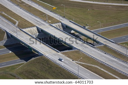 three part highway overpass