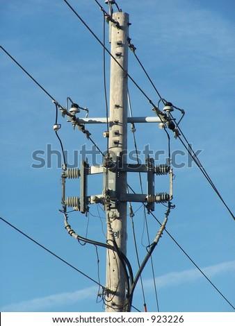 Three Phase Underground Riser Pole Stock Photo 923226
