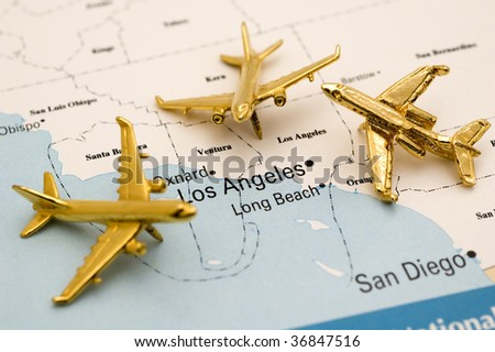 Three Planes Heading to LA.