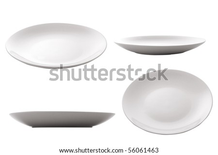 three point of view of empty plate