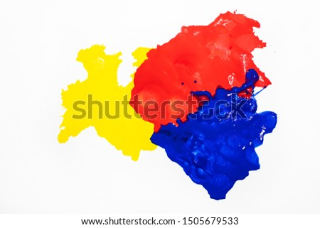 three primary colors from the poster color