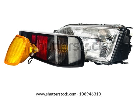 three primary lights used to illuminate the car