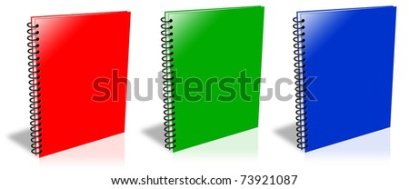 Three ring binder isolated on white