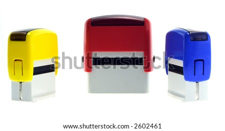 Three rubber stamps