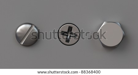 Three screw caps