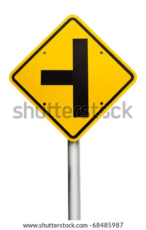 Three separate signs on the white background.