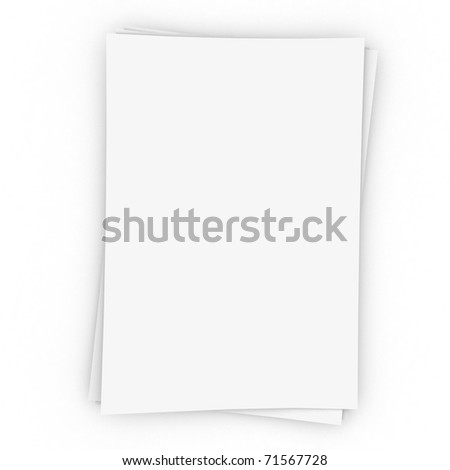 Three  sheets of memo papers isolated on white.