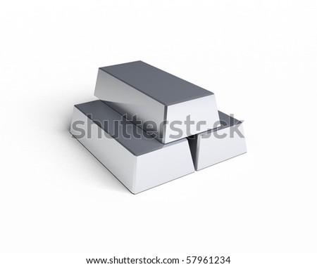 three silver bars