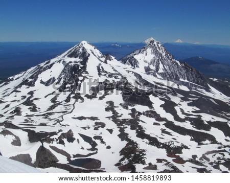 Three Sisters, Mount Jefferson, Mount Hood, Mount Adams #1458819893