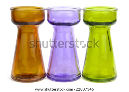 Glass Vases : Glass Bud Vases : Glass Cylinder Vases : Color Glass