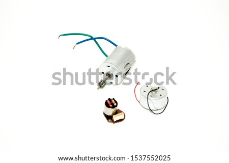 Three small motors. Electric motors. Background electric engine #1537552025