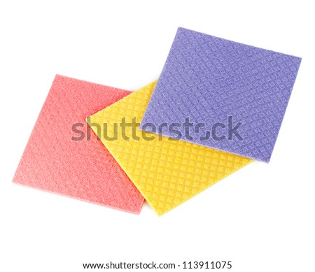 Three sponges isolated