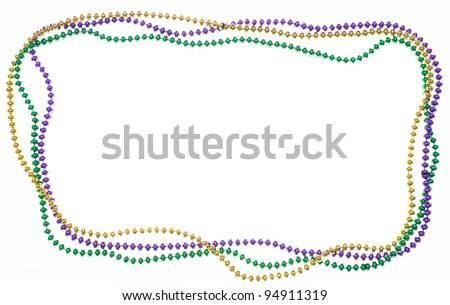 Three strands of beads