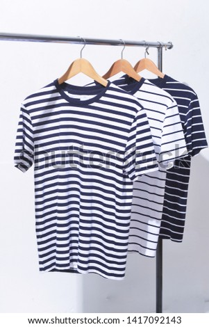 Three striped shirt hanger fashion clothing    #1417092143