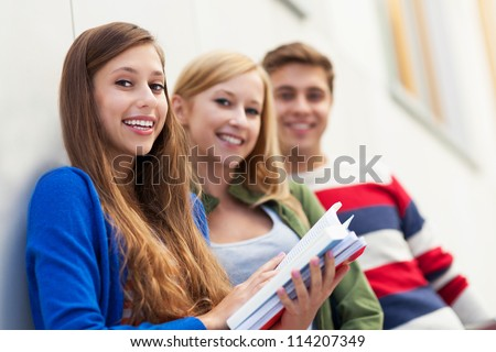 Three students