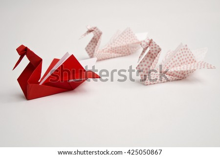 Three swans origami