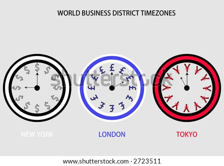 Three Timezones US UK Japan