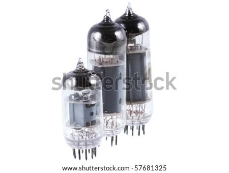 Three vacuum electron tube. Isolated