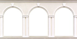 Three windows. Element of design.