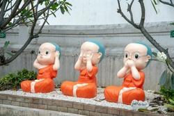 Three wise monks, Wat Pan Ping, Chiang Mai, Thailand
