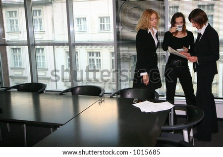 Three woman in the office